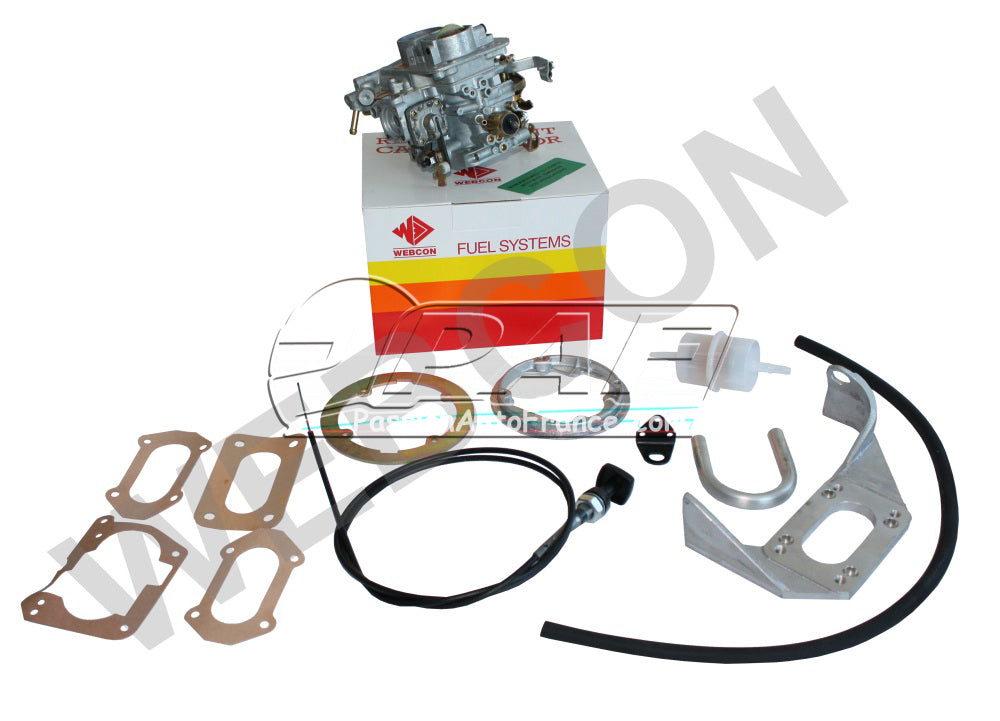 Kit conversion WEBER pour remplacement Carburateur Pierburg 2B2/5 Audi 80 / Audi 80 Coupe / VW Passat 1921cc 5 cylindres 1981-84