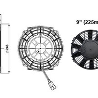 "Ventilateur Comex Slimline 9"" (225mm)"