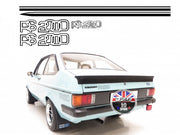 Kit Autocollants Bandes Laterales Ford Escort MK2 RS2000