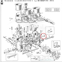 Vis Air By Pass Carburateur WEBER 40 IDA3C 40 IDTP3C, 46 IDA3C, DCOE et DCNF