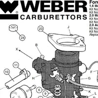 Adaptateur / Bride Filtre à air Carburateur WEBER 32/34 ICH/ICT