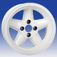 Jante Revolution 5 Branches Rally 9x15 Opel Manta (4x100), Blanche