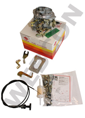Kit Carburateur WEBER Conversion Zenith 2B2/2B5 VW Scirocco 1.6 (1595cc) 1975-83 Boite Manuelle