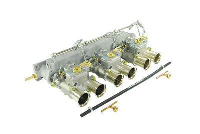 Kit conversion Carburateur Weber Triple 45 DCOE Jaguar Type E 6 cylindres 3.8 / 4.2