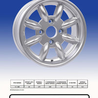 Jante Revolution 8 branches 6x13 Ford standard (4x108), Argent