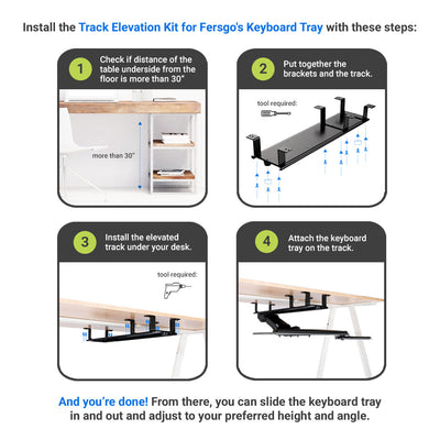 Fersgo Underdesk Keyboard Tray Elevation Kit