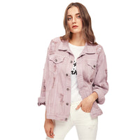 Pink Boyfriend Denim Jacket