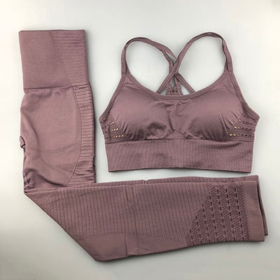 Seamless Yoga 2 Piece Set Sportswear
