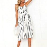 Summer Women Striped Dress