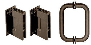 CRL Geneva Hinge and Handle Set/ OIL RUBBED BRONZE #GENS3ORB