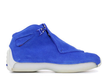 AIR JORDAN RETRO 18 BLUE SUEDE
