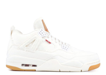 "AIR JORDAN 4 RETRO LEVIS NRG ""LEVI'S"" WHITE"
