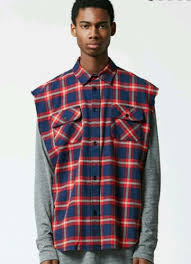 FEAR OF GOD FOG SLEEVELESS FLANNEL