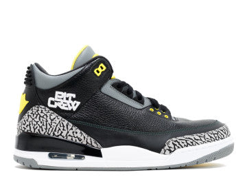 AIR JORDAN RETRO 3 OREGON PIT CREW USED