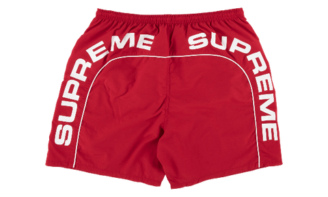 SUPREME ARC LOGO WATER SHORTS RED