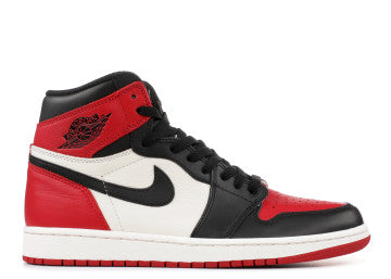 AIR JORDAN RETRO 1 BRED TOE GS