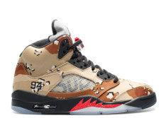 "AIR JORDAN RETRO 5 X SUPREME ""CAMO"""