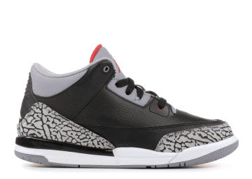 AIR JORDAN RETRO 3 BLACK CEMENT 2018 TODDLER