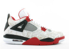 AIR JORDAN RETRO 4 RARE AIR (WHITE LASER)