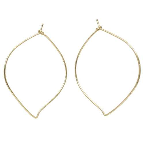 Hoops - Leaf XL - RoseGold