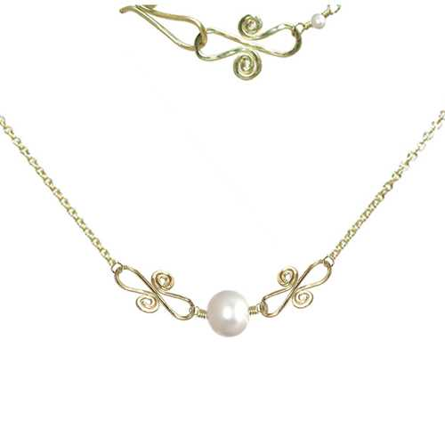 Necklace 243 - choice of stone - RoseGold