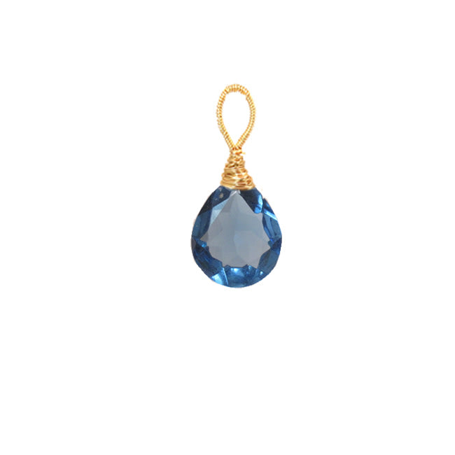 London blue quartz - Gold