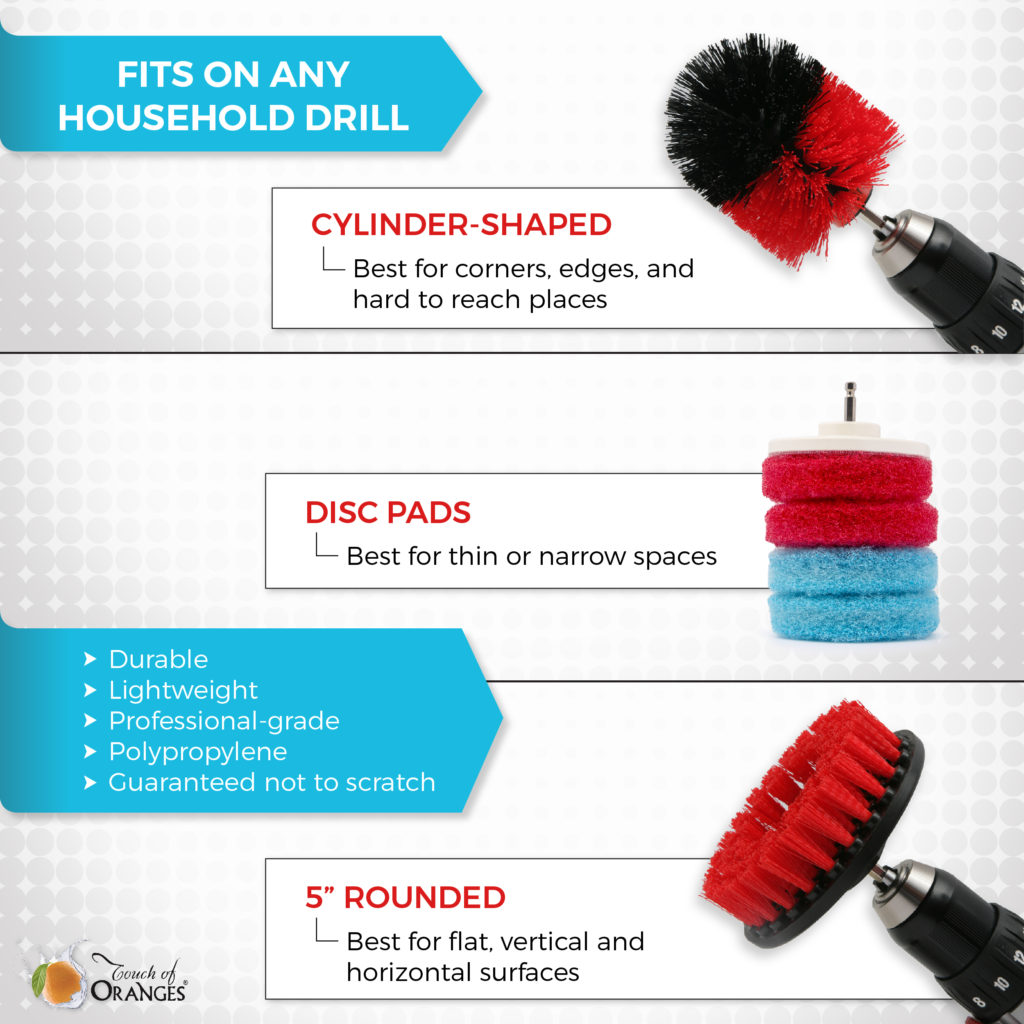 Get Scrubbing Drill Brushes