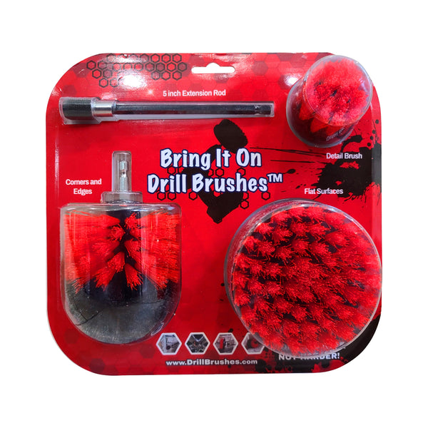 Drill Brush 3 Pack Medium Stiffness Brush Set