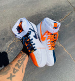 "Air Force One high ""Navy blue & Orange"" MEN"