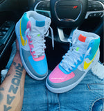 "Air Force ones ""Sweet Tart"" Men/GS"