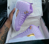 "Custom Jordan 12 ""Light purple"" Men/GS"