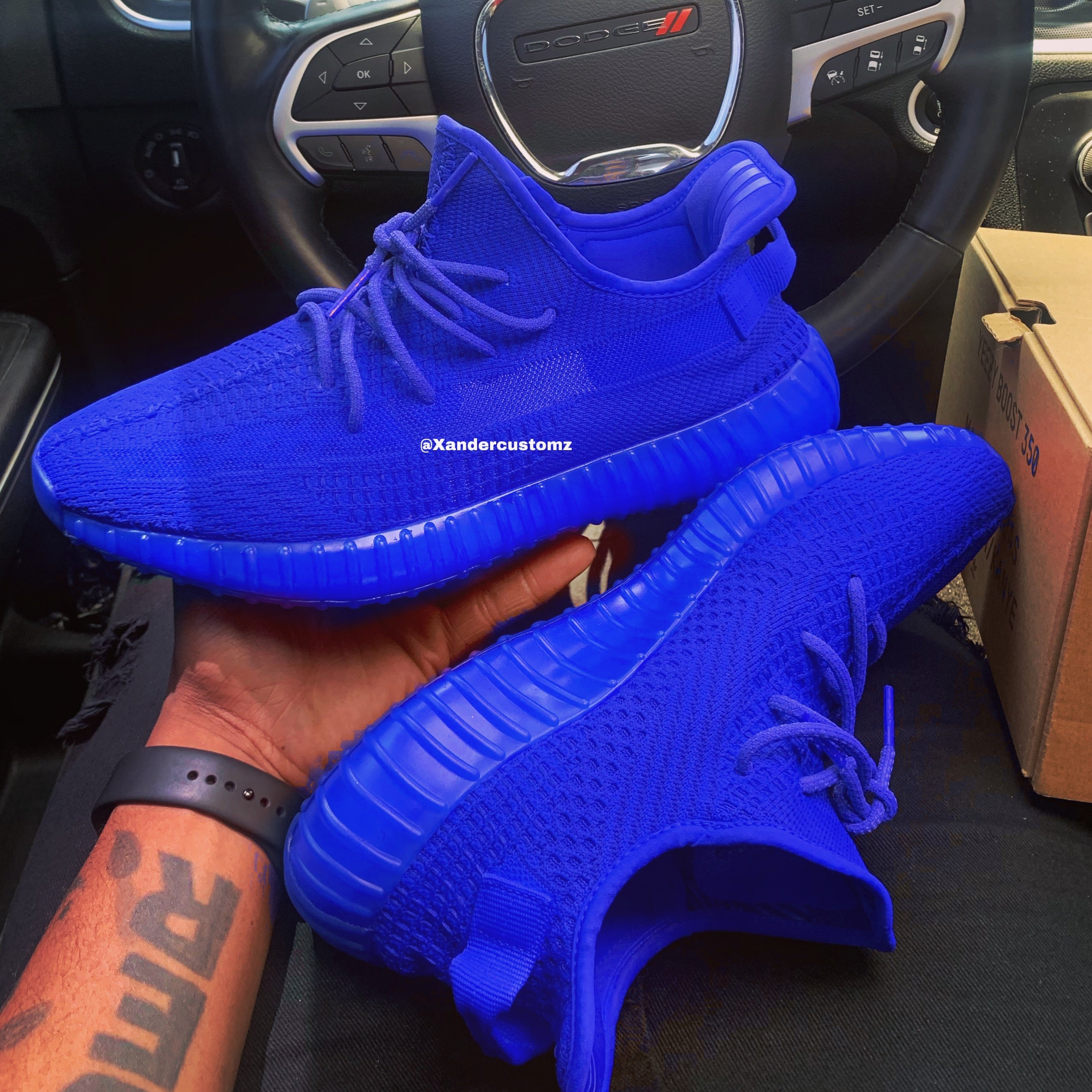 "Custom Yeezy 350 V2 ""Blue"""
