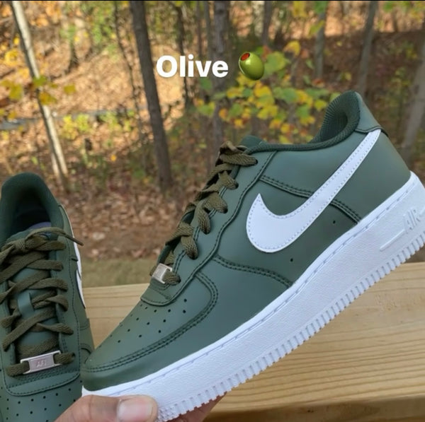 "Air Force One ""Olive Green"" GS/MEN"