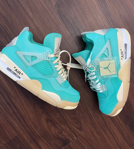 "Jordan 4 ""Off white"" Tiffany (Women Size but can covert to men size)"