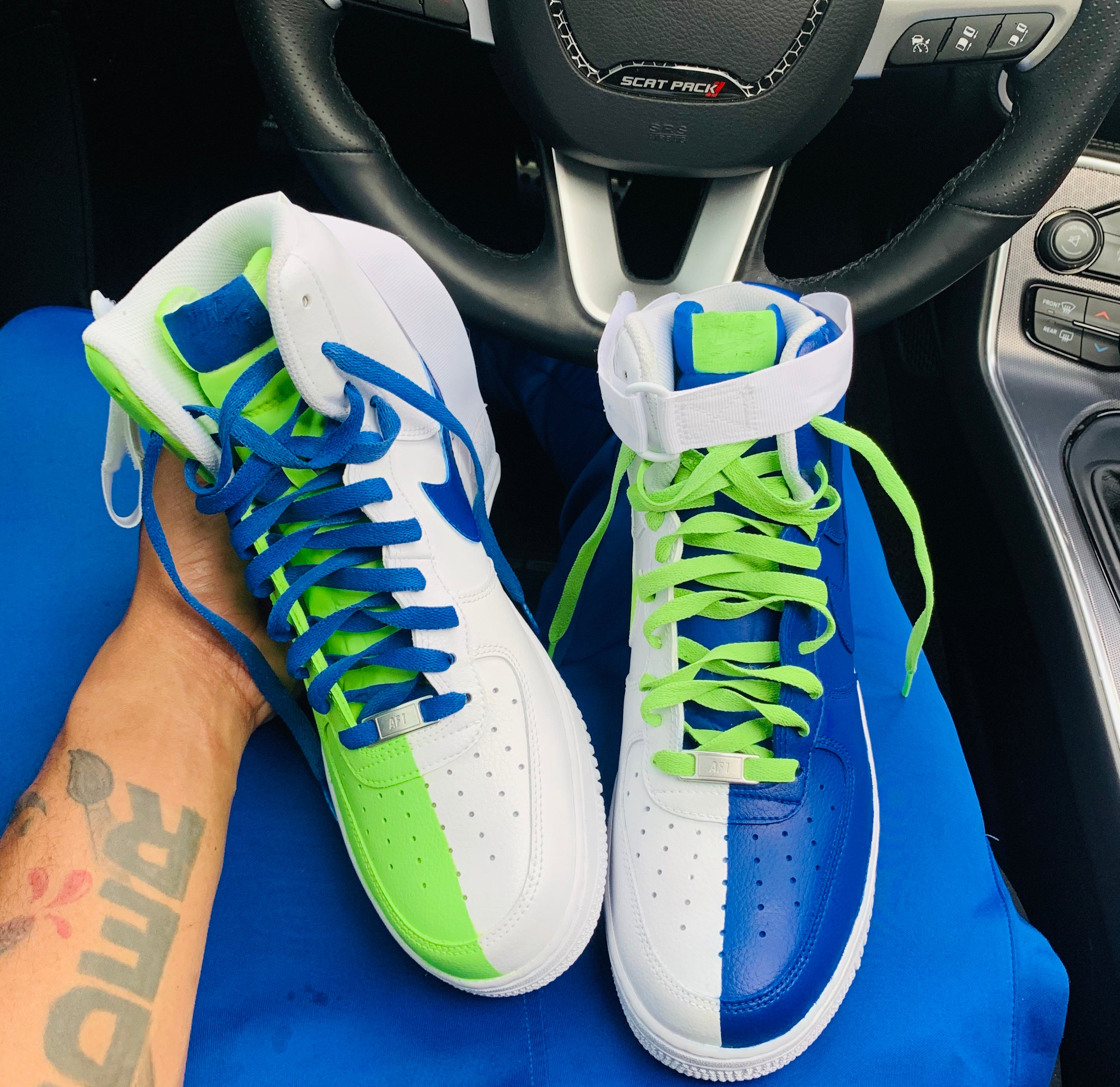 "Air Force One High ""Blue/Green"" Men"