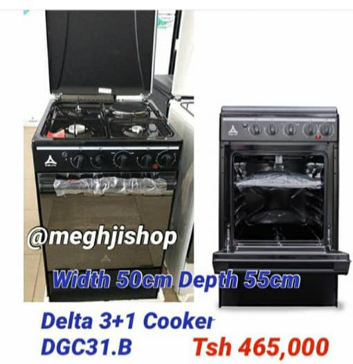 Delta  3gas+1electric burner Cooker 60x60 DGC-31B