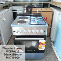 Westpoint 2 Gas + 2 Electric Cooker -  WCER6622EOX