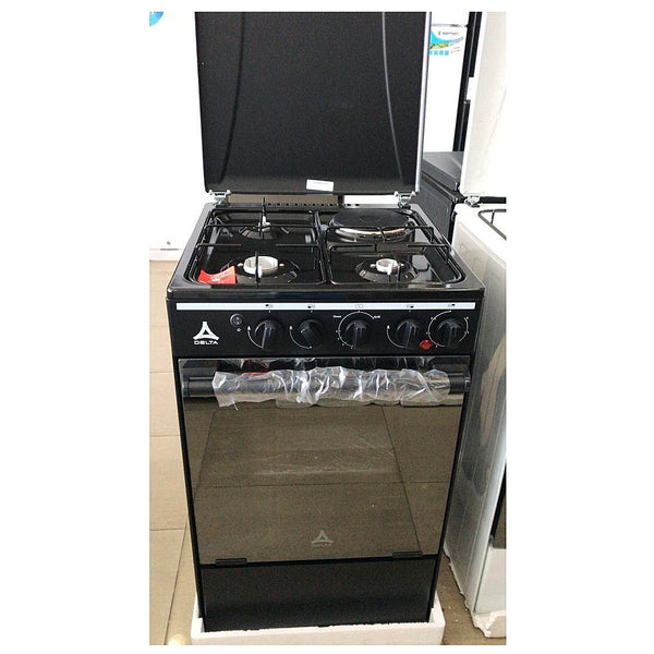 Delta 3 Gas + 1 Electric burner Cooker 60x60 DGC-31B
