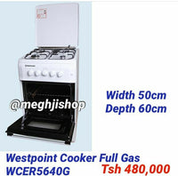 Westpoint 4 Plate Gas Cooker 50x55cm - WCER5540G3