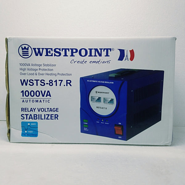 Westpoint Automatic Relay Voltage Stabilizer 1,000VA WSTS-817.R