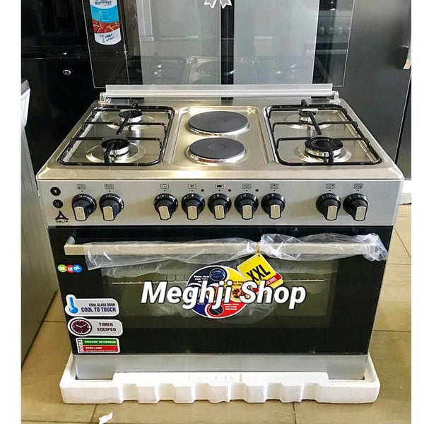 Delta 4 Gas + 2 Electric Cooker 90x60cm DGC-9042