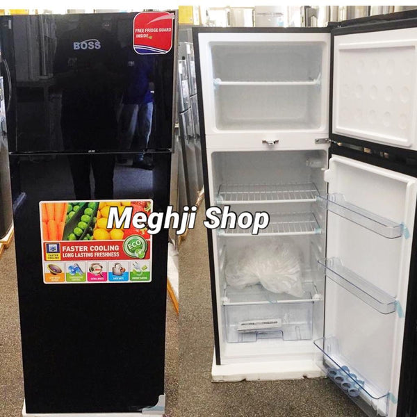 Boss Double Door Fridge  - BS202BLK