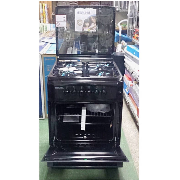 Bruhm Full Gas Cooker 60x60cm -BGC6640NB