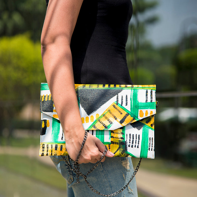 Fun and Chic handpainted and handcrafted clutches