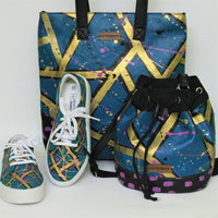 Totes, Bucket Bags and Shoes - handcrafted and hand-painted