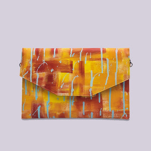 A quirky colourful Envelope Clutch