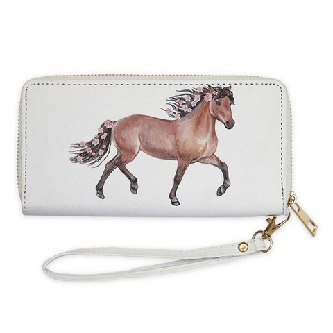 AWST International Bay Horse and Flowers Wallet