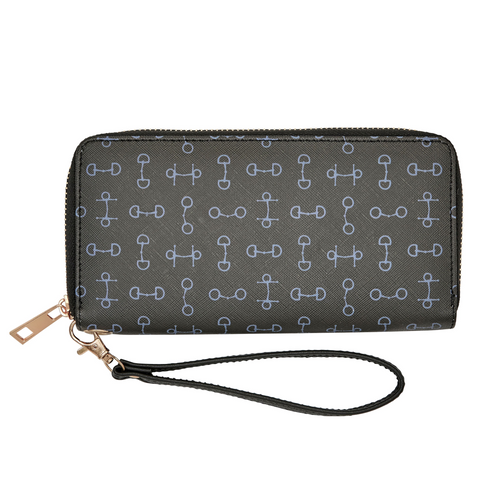 "AWST International ""Lila"" Snaffle Bit Wallet, Black"