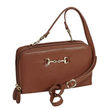 Load image into Gallery viewer, AWST International Brown Snaffle Bit Crossbody Bag - Equitique-USA