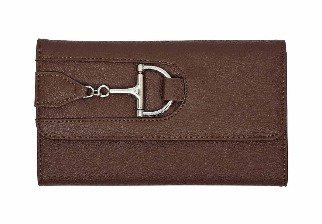 AWST International Brown Snaffle Bit Wallet - Equitique-USA